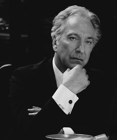 Alan Rickman (a favorite actor: Harry Potter, Sweeney Todd, Love Actually, Galaxy Quest, Robin Hood Prince of Thieves etc)