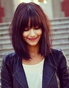 Louise Roe plays around with a clip-in fringe to recreate Tresemmé look at Rebecca See also: hair fringe 2017 Spring 2017 Hairstyles, Beauty Hair, 2017 Hair Trends Bangs, Bonelli Hair, Bangs Hairstyles 2017, 2017 Hair Bangs, Hair, Bangs 2017 Haircuts, Shoulder length hair. Long bob hairstyle. Haircut / Rose Byrne. For a short hair cut.... Continue Reading