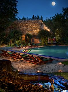 Belize sounds nice... How about Francis Ford Coppola's Blancaneaux Lodge? In the Belize rainforest, numerous natural pools, waterfalls, a variety of charming and luxurious jungle abodes, 2 restaurants and a bar, numerous activities, an organic garden, horse stables... OK. Now Belize sounds perfect:)