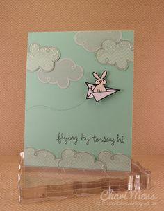 trop mignon le petit lapin dans l'avion de papier !!!  so cuteeee
