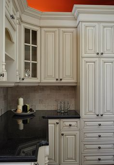 almond glazed kitchen cabinets more