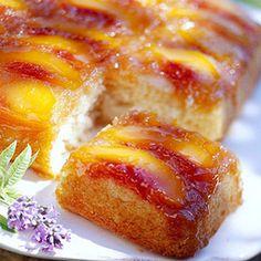 peach upside down cake recipe, peach cake, dessert recipes, oven, upside down cakes, cake recipes