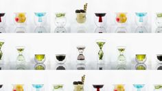 Coctail glasses look like art when filled