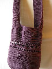 Crochet Slouchy Hobo Style Bag free pattern.