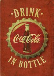 Digital Vintage Coca Cola Posters 2 by Kareem Gouda