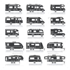 4 Cars Recreational Vehicles Camper Creativework247 Graphic Objects