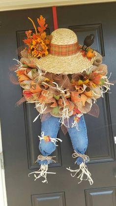 Thanksgiving Wreaths, Autumn Wreaths, Thanksgiving Decorations, Wreath Fall, Burlap Wreath, Holiday Wreaths, Fall Crafts, Decor Crafts, Rustic Crafts