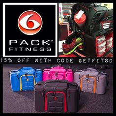 @6 Pack Fitness Meal Management Bags make staying on track with #healthy eating on-the-go or traveling easy! SAVE 15% with code GETFITSD!