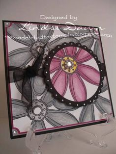 Everyday Life: { I'm Dreaming of Stamping } *love the punch of color with the graytones-JT Card Making Inspiration, Making Ideas, Scrapbook Cards, Scrapbooking, Creative Cards, Flower Cards, Diy Projects To Try, Cute Cards, Greeting Cards Handmade