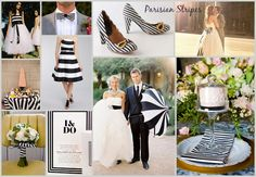 Parisian Stripes – Black & White Wedding Inspiration