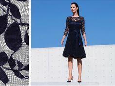 Vestido corto elegante del diseñador Joseph Ribkoff perfecto para eventos elegantes al aire libre,su encaje perfecto hace de este vestido un diseño único e incomparable.