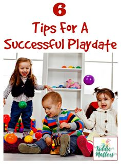 Play dates help children learn valuable social skills such as sharing, problem solving, and making friends.  These tips and ideas are perfect for use with toddlers and preschool aged kids.