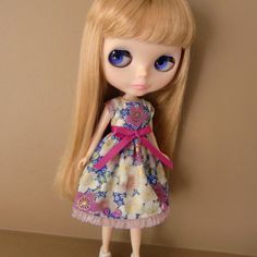 Cerise and Purple Summer Dress for Blythe by myfairdolly on Etsy, $13.00