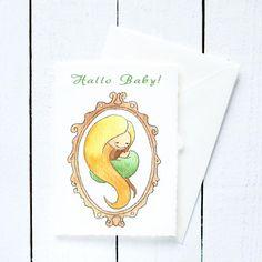 Grußkarte zur Geburt: Hallo Baby!