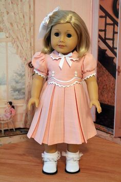 1930s Frock for 18 Inch Dolls like Kit and Ruthie by BabiesArtUs, $55.00