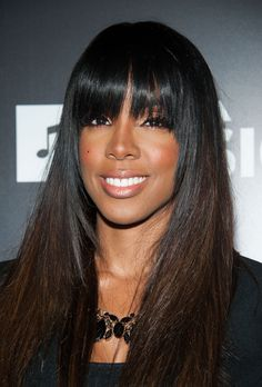 Kelly Rowland full sew in weave with fringe