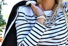 stripes & chains | Minimal + Chic | @CO DE + / F_ORM