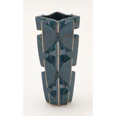 Peculiar Ceramic Vase Blue/Gold