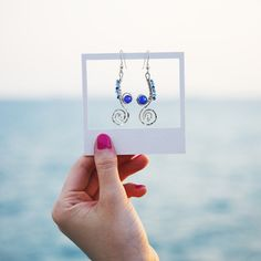 Stunning earrings handcrafted from recycled sterling silver. The Undercurrents earrings speaks of ocean currents and delicate seahorse. Cute Home Decor, Fall Home Decor, Nautical Earrings, Beautiful Gifts For Her, Cheap Office Decor, Decor Logo, Sea Waves, Works With Alexa, Color Themes