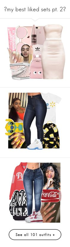 """""""my best liked sets pt. 2"""" by savagebxtch24 ❤ liked on Polyvore featuring LMNT, Maybelline, adidas, Madewell, Anya Hindmarch, Joyrich, Victoria's Secret, NIKE, MICHAEL Michael Kors and Givenchy"""