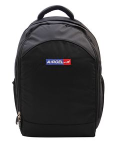 Backpack exclusively manufactured for Aircel by Crea - India's smartest brand merchandising company.