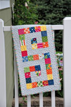sweet!  Initial wall quilt!