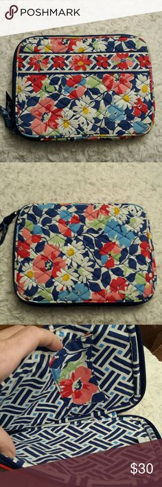 Vera Bradley Quilted Tablet Case VB Multicolored Quilted Floral Pattern Tablet Pouch  Very Good condition Vera Bradley  Bags Laptop Bags