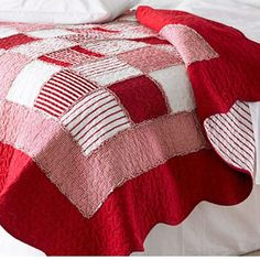 Quilted red and white gingham bedspread. http://www.worldstores.co.uk/p/Sashi_Orleans_Quilted_Bedspread.htm
