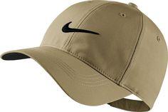 Nike Mens Golf Legacy91 Tech Adjustable Hat 235 Khaki Black One Size New   Nike c32b35e84ce1