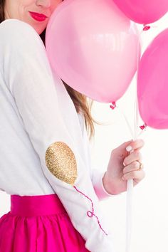 DIY Balloon Elbow Patches | @StudioDIY  #cricutexplore