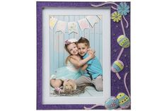 Easter Purple Glitter Pewter Picture