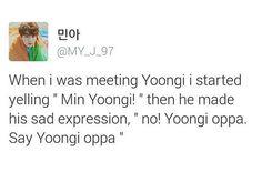 Yoongi and his oppa kink