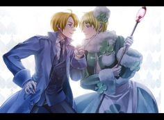 King of Two People by 守屋ココ - Hetalia - America / Russia