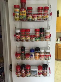 Good The End Result Using Cooling Racks From The Dollar Tree To Make Spice Racks  To Hang
