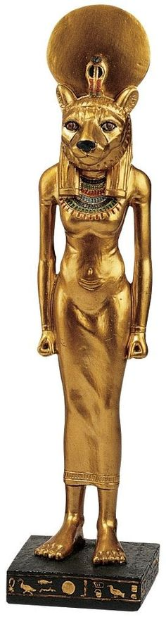 Features:  -Design Toscano exclusive.  -Quality, designer, cold cast resin construction.  -Hand painted in accurate gold toned details and colors from an Egyptian palette.  Product Type: -Figurine.  S