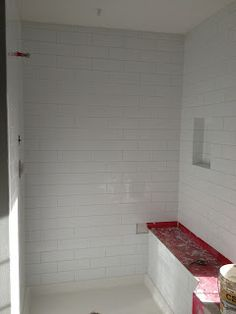 Up Close Of The Tile Layout Mattegloss Mixed Subway Tiles Running - 4x12 white glossy subway tile
