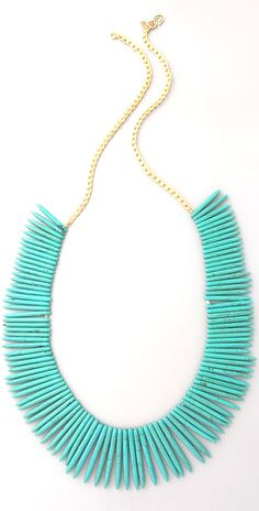 Awesome tribal inspired turquoise necklace.