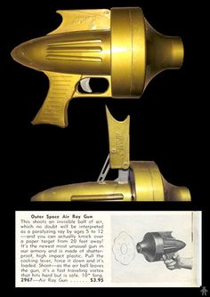 Space Guns - ATOMIC OUTER SPACE AIR RAY GUN - AIDS INC - USA - ALPHADROME ROBOT AND SPACE TOY DATABASE