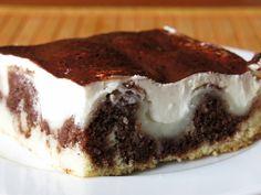 180 g cukru, 2 tsp pr. do peciva Pavlova, Dessert Bars, Tiramisu, Cheesecake, Food And Drink, Pudding, Sweet, Ethnic Recipes, Cakes