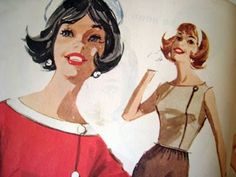 the red thread: Vintage Fashion Illustration