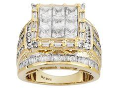 2016 Holiday Ring Bella Luce (R) 6.47ctw Diamond Simulant Eterno (Tm) Yellow Ring (5.79ctw Dew)