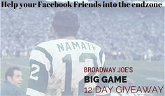 Win something BIG from Joe Namath before the BIG Game! #NamathProducts http://12daysofgiveaways.kickoffpages.com?kid=8EPBA