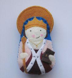 Saint Margaret of Scotland Felt Saint Softie.
