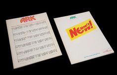 Two issues of the RCA journal Ark (now called ARC) on which Alan Rickman worked while a post graduate graphic design student at the RCA in the late 1960s and worked on issues #45 and #46 (1969 and 1970) of the journal as the copy editor. He also wrote articles in each one – an interview with Jim Haynes and a piece called Child's Play where he spent a day as a supervisor in a children's play park.