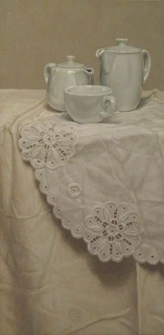 Paolo quaresima - Petit dejeuner, 2006, olio su tavola