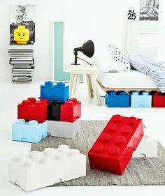 giant LEGO storage brick storage boxes   via Posh365