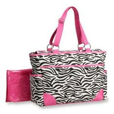 Carter's Fashion Tote Bag, Zebra Print #zebraprint #zebra #bag #purse #tote #handbag