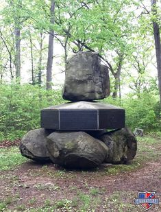 This monument to the 5th New Hampshire Infantry was constructed using actual boulders taken from the Gettysburg Battlefield. By the end of the Civil War in 1865, the 5th New Hampshire suffered the most battle deaths of any other Union regiment throughout war, with 295 men killed in action.