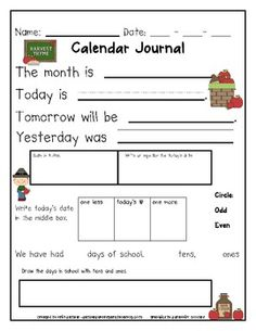 These printables are a great addition to your morning calendar routine!Most of the time teachers are doing all the thinking and work during calen...