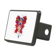 Patriotic Patsy Hitch Cover www.teeliesfairygarden.com Customize your car, truck, van, RV or SUV with this heavy duty plastic Hitch Cover. #fairyhitchcover